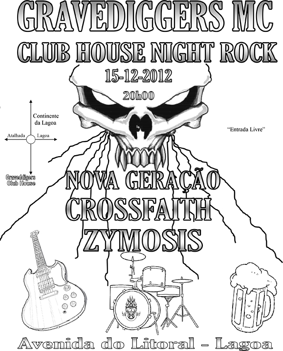 Gravediggers MC CLube House Night Rock